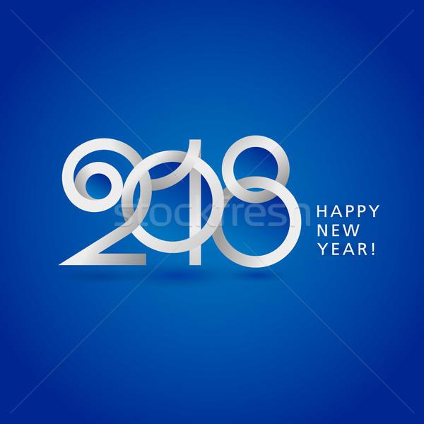 új év papír üdvözlőlap boldog absztrakt Stock fotó © sanyal