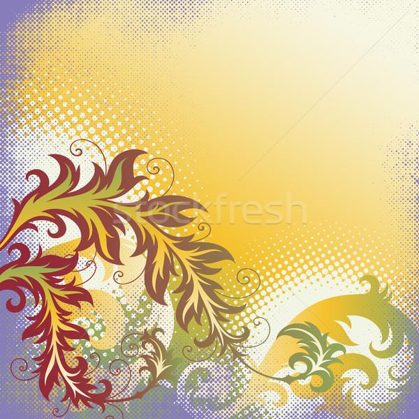 floral ornament Stock photo © sanyal