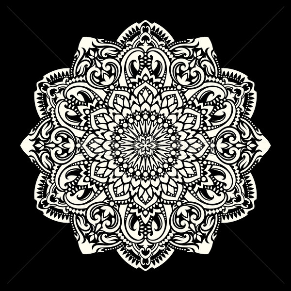 Mandala etnische motieven ornament patroon vintage Stockfoto © sanyal