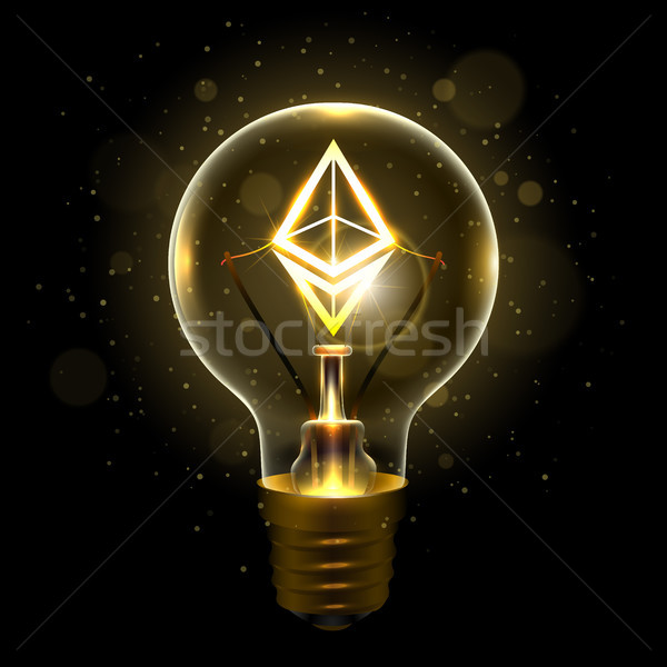 Realistic lamp with the symbol Stock photo © sanyal