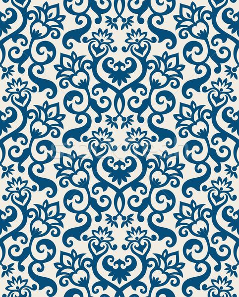 フローラル 壁紙 シームレス 飾り ファッショナブル 現代 ストックフォト © sanyal