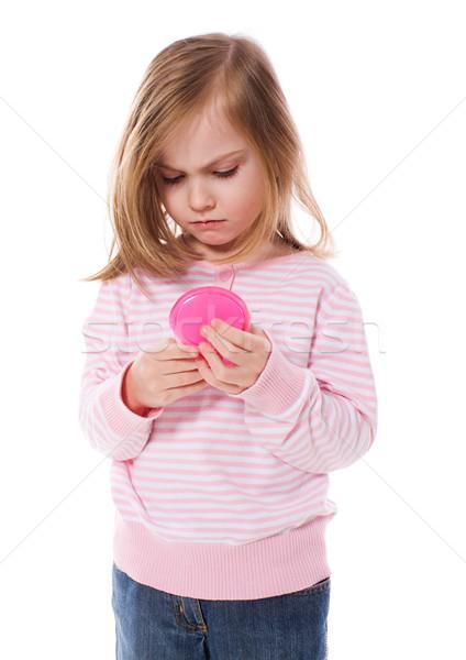 Bouleversé fille regarder miroir cinquième ans Photo stock © sapegina