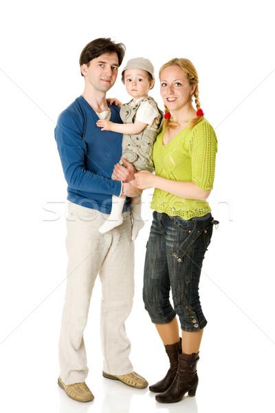 Mutlu aile çocuk birlikte yalıtılmış beyaz kadın Stok fotoğraf © sapegina