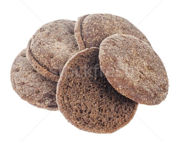 Rogge brood stukken geïsoleerd witte Stockfoto © sapegina