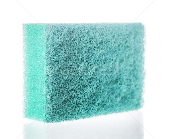 мытье посуды губки один изолированный белый домой Сток-фото © sapegina