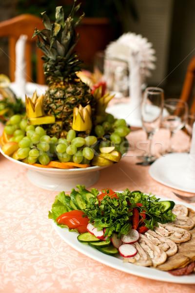 Restaurant table casse-croûte fruits alimentaire mariage Photo stock © sapegina