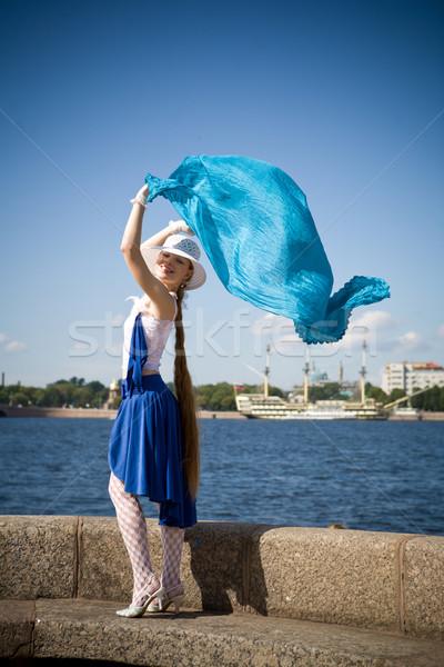 Genç bayan genç kadın dans rüzgâr Rusya Stok fotoğraf © sapegina