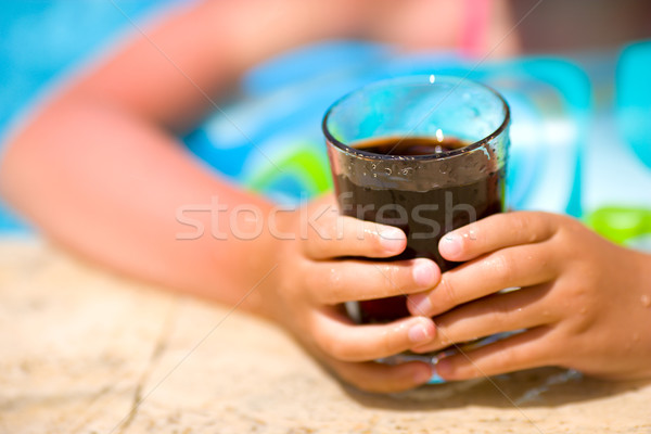 Child holding cola drink Stock photo © sapegina