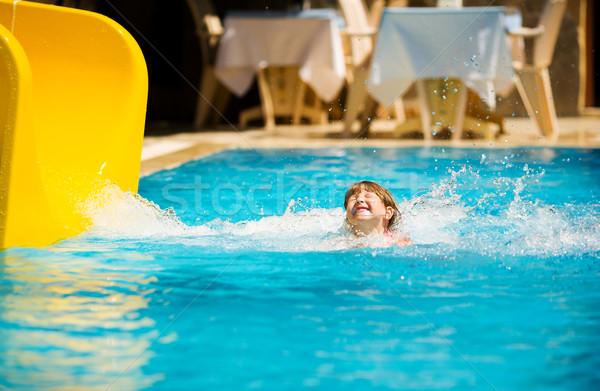 Sliding in pool Stock photo © sapegina