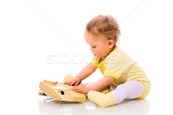 Baby dialing Stock photo © sapegina