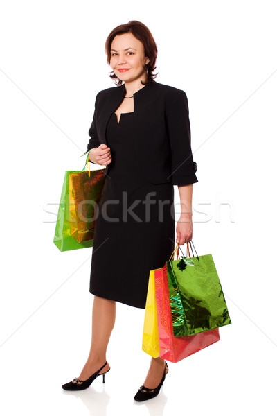 Mature woman holding shopping bags Stock photo © sapegina
