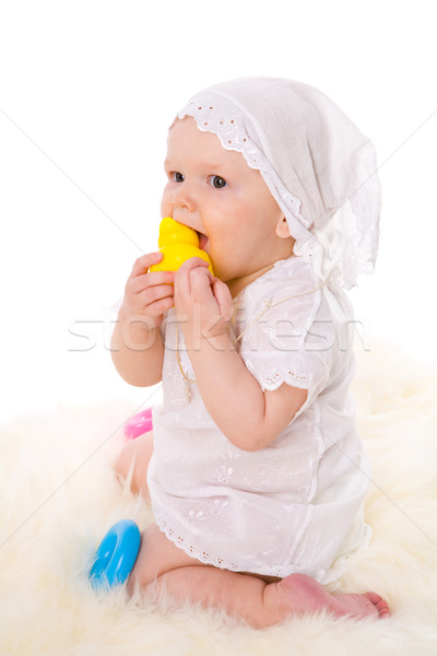 Bebek yaş bir yıl oynama Stok fotoğraf © sapegina