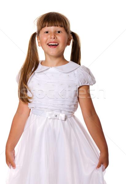 Gülme kız mutlu altı yıl portre Stok fotoğraf © sapegina