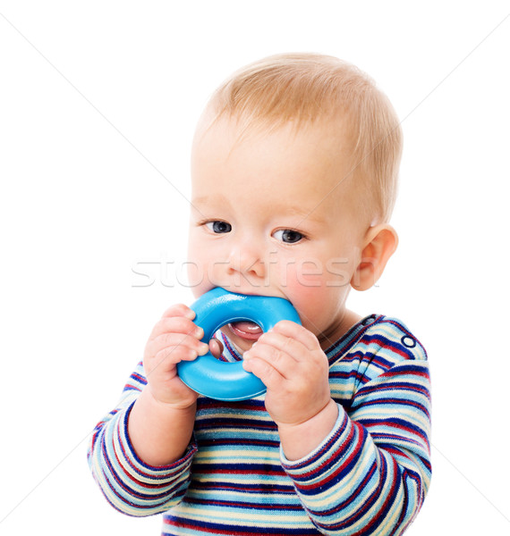 Stock photo: Baby chewing toy