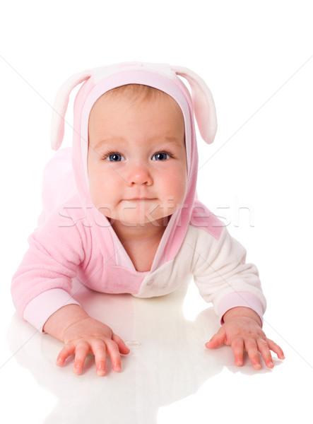 Bebek tavşan altı ay takım elbise Stok fotoğraf © sapegina