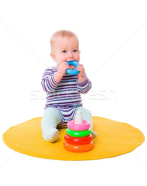 Stock photo: Baby playing