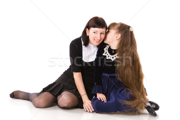 Secrets famille mère fille isolé blanche Photo stock © sapegina