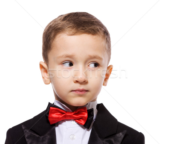 Menino pequeno retrato isolado Foto stock © sapegina