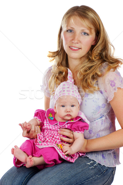 Young mother and babygirl Stock photo © sapegina