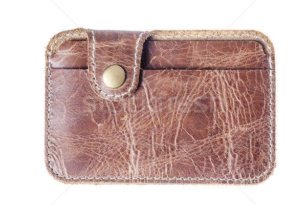 leather card holder Stock photo © sapegina