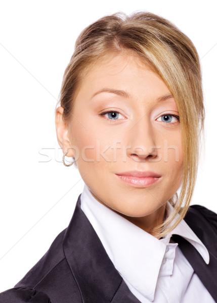 Stok fotoğraf: Iş · kadını · portre · güzel · yalıtılmış · beyaz
