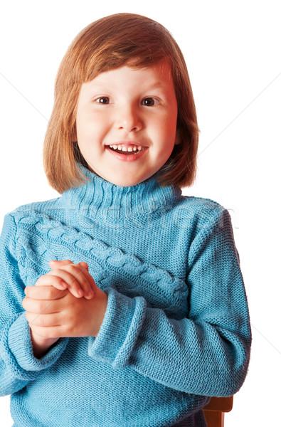 Happy five years girl laughing Stock photo © sapegina