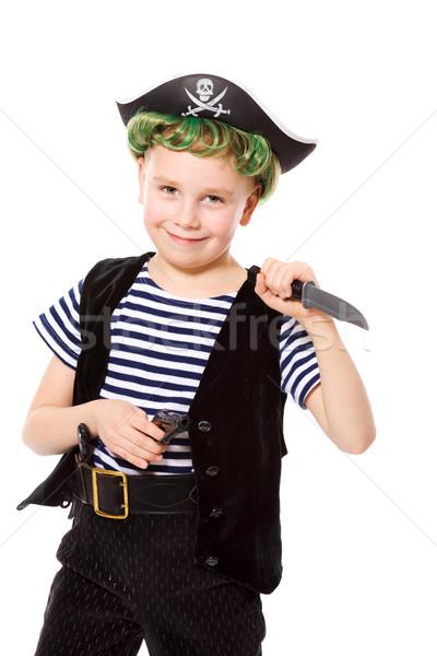 Stok fotoğraf: Korsan · erkek · kostüm · bıçak