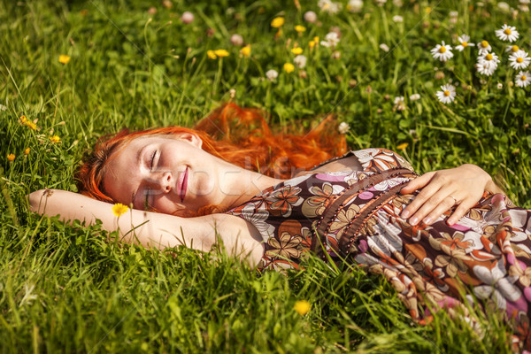 Dreaming in summer meadow Stock photo © sapegina