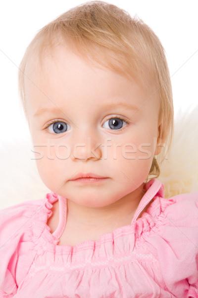 Zdjęcia stock: Dziewczyna · portret · mały · blond · odizolowany