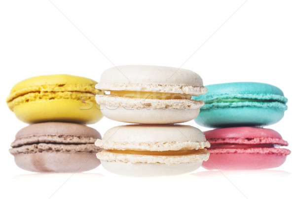 macarons french cookies Stock photo © sapegina