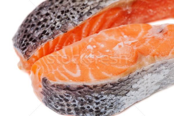Two salmon stakes Stock photo © sapegina