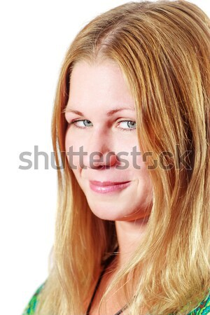 sneaky smiling woman Stock photo © sapegina