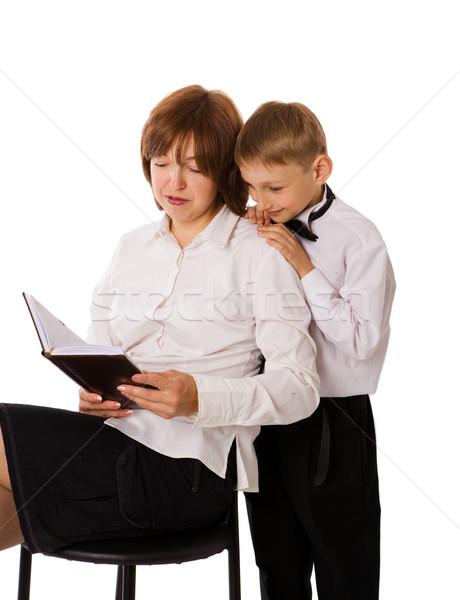 Mother reading book Stock photo © sapegina