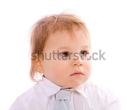 Dalgın erkek bir yıl yaş bakıyor Stok fotoğraf © sapegina