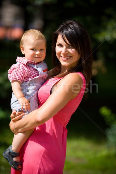 幸せ 母親 1 年 ストックフォト © sapegina