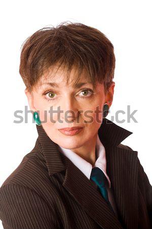 Stok fotoğraf: Iş · kadını · portre · yalıtılmış · beyaz · iş · kadın