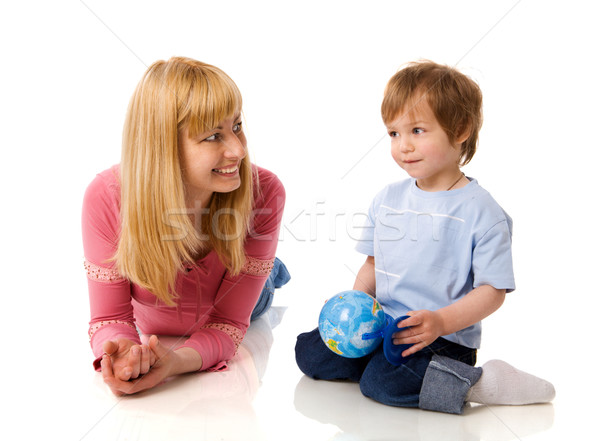 Stok fotoğraf: Mutlu · anne · dünya · oğul · yalıtılmış