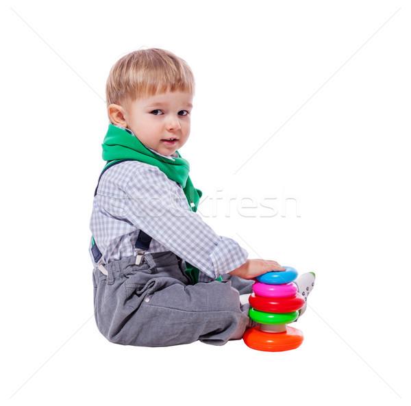 Toddler boy playing Stock photo © sapegina