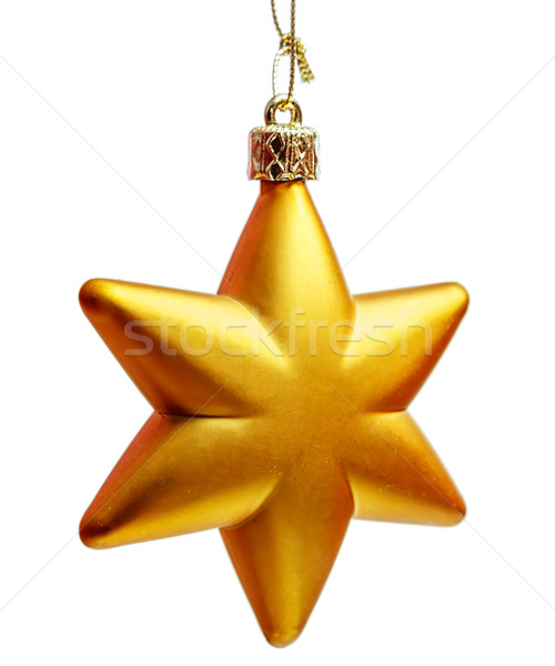 Golden Christmas star Stock photo © sapegina