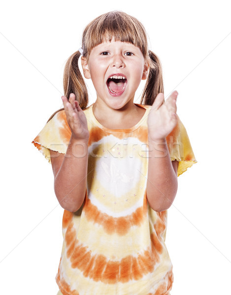 girl clapping hands Stock photo © sapegina