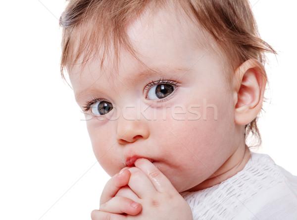 Stock photo: girl sucking finger