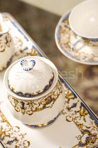 çay ayarlamak Çin kahve Stok fotoğraf © sapegina