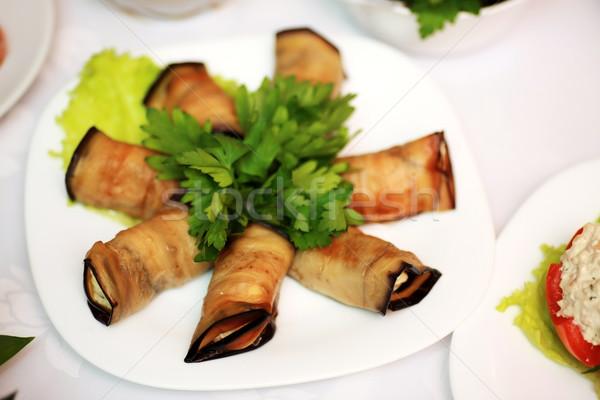 baked aubergine Stock photo © sapegina