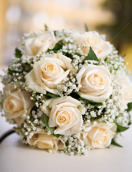Noivas buquê chá rosas macro tiro Foto stock © sapegina