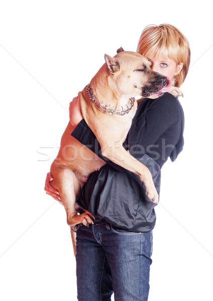 Woman and dog Stock photo © sapegina