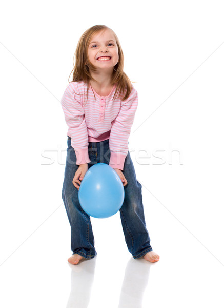 Girl with Balloon Stock photo © sapegina