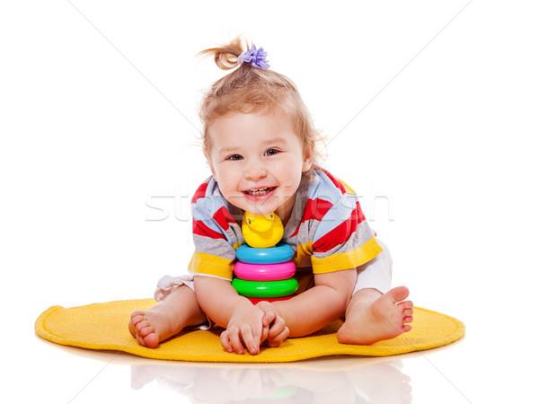 Toddler girl playing Stock photo © sapegina