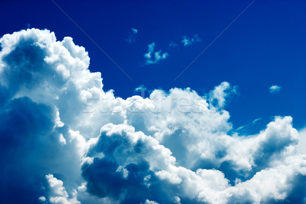 Bulutlar dramatik güneş ışığı jet görmek Stok fotoğraf © sapegina