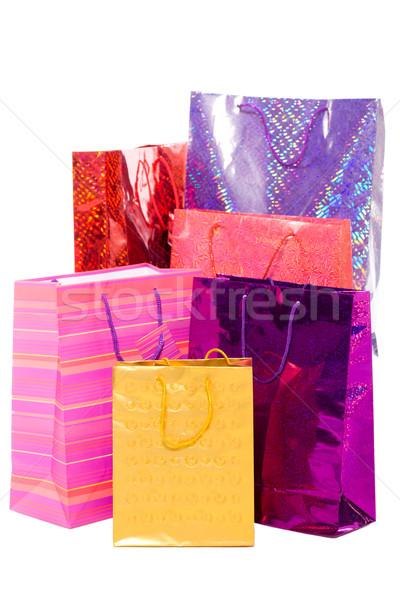 Stok fotoğraf: Hediyeler · çanta · renkli · hediyeler