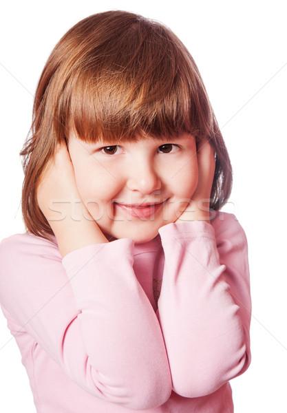 Kız kulaklar küçük kız komik yalıtılmış Stok fotoğraf © sapegina
